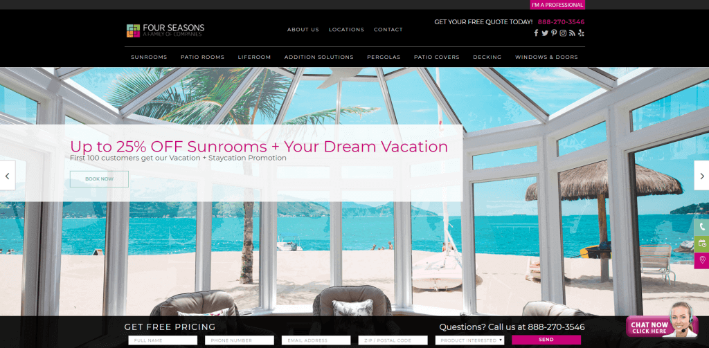 Best SEO San Diego SEO & Web Design & Ecommerce Clients Four Seasons Sunrooms
