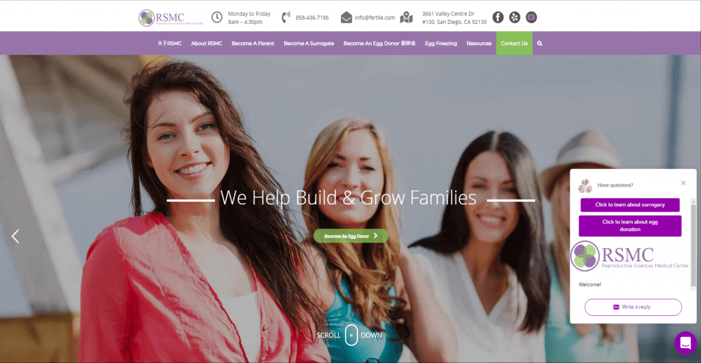 RSMC Fertility Client SEO & Web Design By Best SEO San Diego